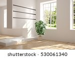 white empty room with green... | Shutterstock . vector #530061340