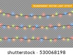 garlands  christmas decorations ... | Shutterstock .eps vector #530068198