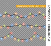 garlands  christmas decorations ... | Shutterstock .eps vector #530068204
