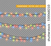 garlands  christmas decorations ... | Shutterstock .eps vector #530068210