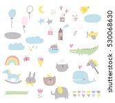 baby shower card set | Shutterstock .eps vector #530068630