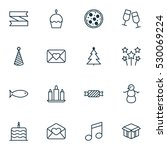 set of 16 holiday icons. can be ... | Shutterstock .eps vector #530069224