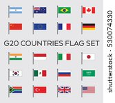a vector collection of the g20... | Shutterstock .eps vector #530074330