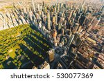 aerial view of  central park in ... | Shutterstock . vector #530077369