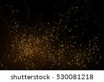 Gold glitter powder splash vector background. Golden scattered dust. Magic mist glowing. Stylish fashion black backdrop.   Shutterstock vector #530081218