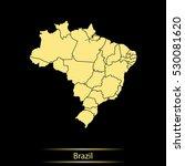 map of brazil | Shutterstock .eps vector #530081620