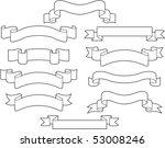 set of white ribbons | Shutterstock .eps vector #53008246