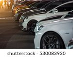 view of row new car at new car... | Shutterstock . vector #530083930