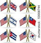 american friendship flags 2 | Shutterstock .eps vector #53008744