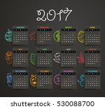 2017 year vector calendar... | Shutterstock .eps vector #530088700