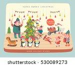 merry christmas cartoon vector. ... | Shutterstock .eps vector #530089273