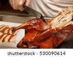 dressing of peking roast duck.... | Shutterstock . vector #530090614