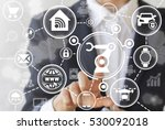 industrial automation robotic... | Shutterstock . vector #530092018