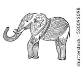 indian elephant in traditional... | Shutterstock .eps vector #530093098
