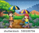 Rainy Season With Two Girls In...