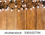 Christmas Lights On Old Wood...