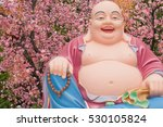 Colorful Happy Buddha Image On...