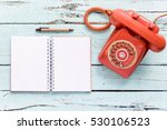 the diary blanks with retro... | Shutterstock . vector #530106523