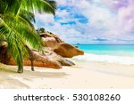 tropical island. the seychelles.... | Shutterstock . vector #530108260