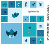 simple flat icons collection... | Shutterstock .eps vector #530108338