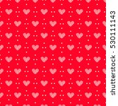 hearts pattern seamless vector...   Shutterstock .eps vector #530111143
