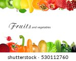 color fruits and vegetables.... | Shutterstock . vector #530112760