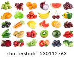 collection of fruits and... | Shutterstock . vector #530112763