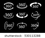 collection of angle 360 degrees ... | Shutterstock .eps vector #530113288