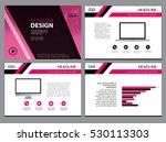 business template design set... | Shutterstock .eps vector #530113303