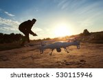 Close Up Of Flying Drone At...