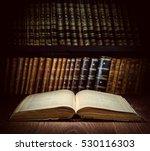 open old book on a bookshelf...   Shutterstock . vector #530116303