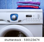the washing machine which costs ... | Shutterstock . vector #530123674