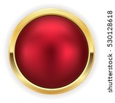red christmas button with gold... | Shutterstock .eps vector #530128618