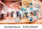 marketing data management... | Shutterstock . vector #530129644