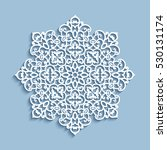 cutout paper lace doily ... | Shutterstock .eps vector #530131174