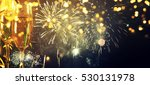 glasses with champagne against... | Shutterstock . vector #530131978