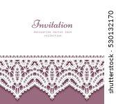 cutout paper background  vector ... | Shutterstock .eps vector #530132170