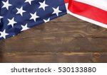 american flag wooden background.... | Shutterstock . vector #530133880