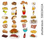 a vector illustration of food... | Shutterstock .eps vector #530134114