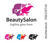 beauty salon logo template... | Shutterstock .eps vector #530135710