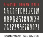 narrow sanserif font with... | Shutterstock .eps vector #530137318