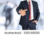 a business man with an open... | Shutterstock . vector #530140030