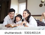asian family  happy parents and ... | Shutterstock . vector #530140114