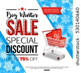 blue winter sale banner with... | Shutterstock .eps vector #530140660