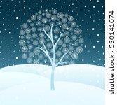 vector illustration of winter... | Shutterstock .eps vector #530141074