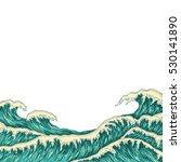 hand drawn wave background.... | Shutterstock .eps vector #530141890