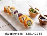 portrait of japanese cuisine...   Shutterstock . vector #530142358