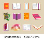 colorful books icons set ... | Shutterstock . vector #530143498