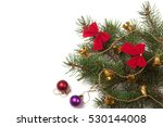 branch of christmas tree with...   Shutterstock . vector #530144008