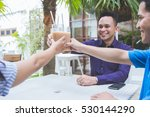 portrait of three business... | Shutterstock . vector #530144290